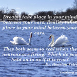 Dreams take place in your mind
