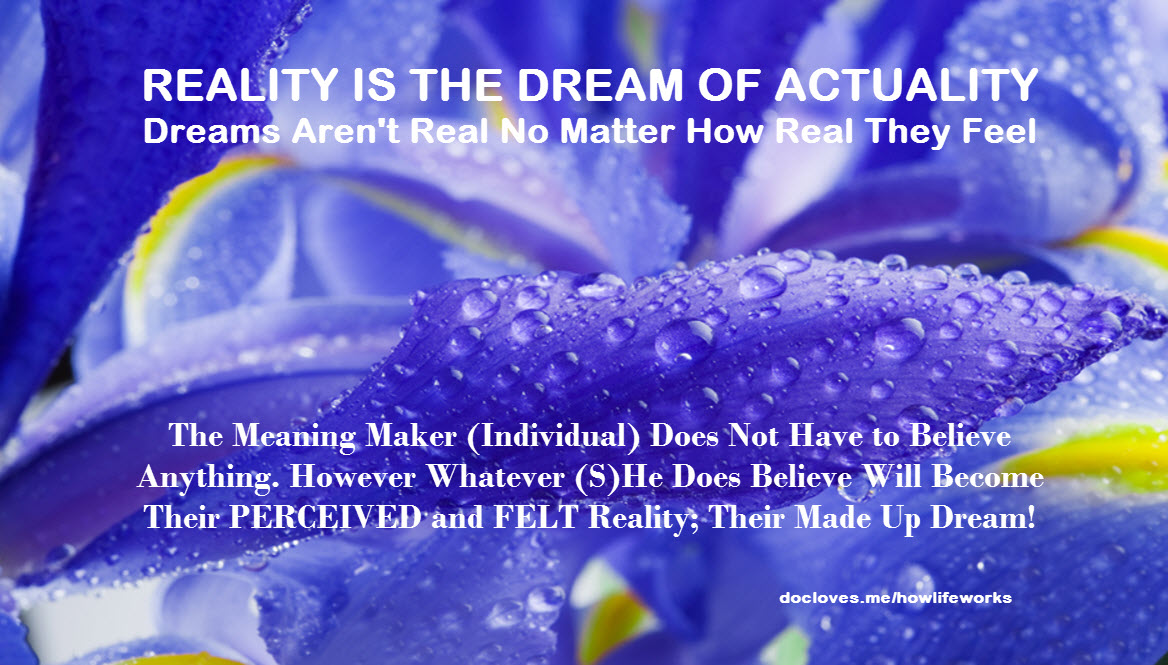 Reality is the dream of actuality
